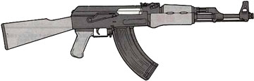 Typical AK-style rifle