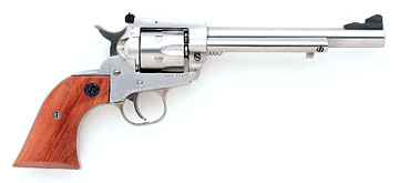 Stainless, long barrel, adjustible sights